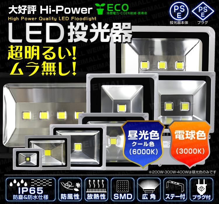 WEIMALL(ウェイモール)LED投光器 バリエーション