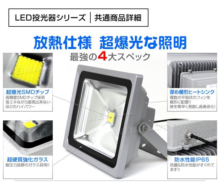 ウェイモールのLED投光器 共通する4大スペック
