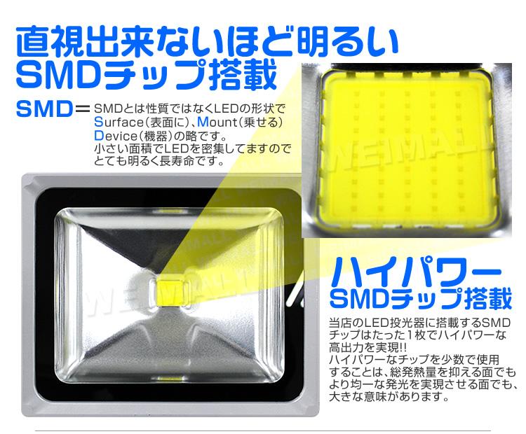 ウェイモールのLED投光器 SMDチップについて