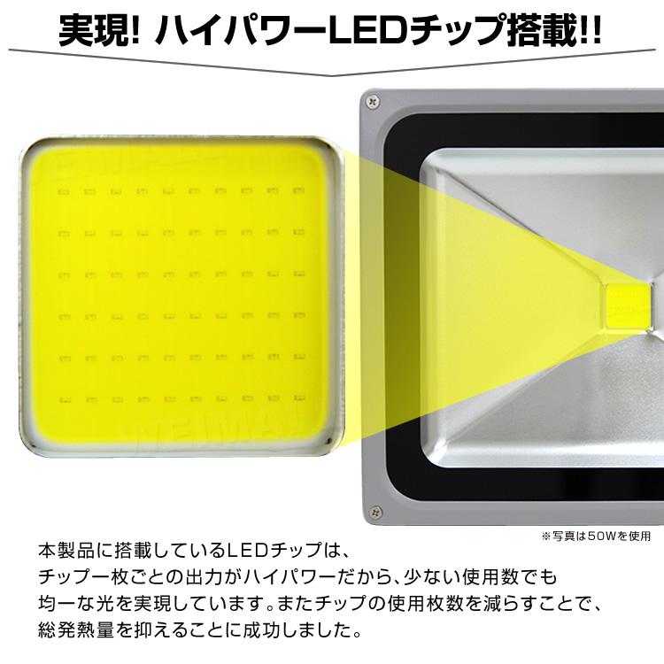 ウェイモールのLED投光器 LEDチップについて