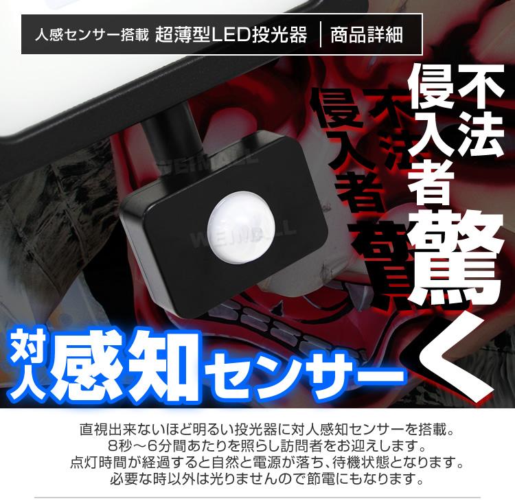 ウェイモール 人感センサー付LED投光器 人感センサー部分