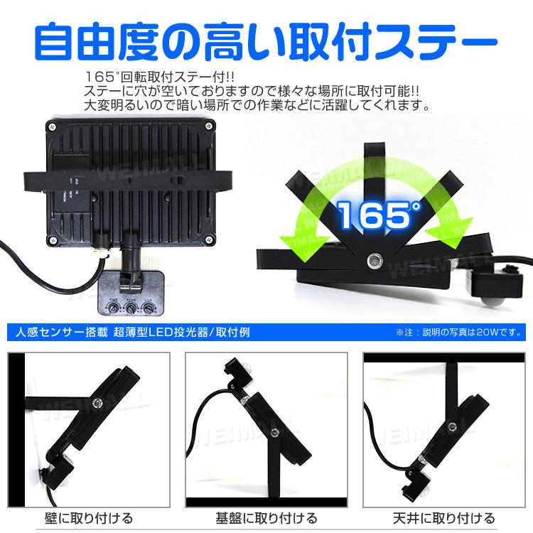 ウェイモール 人感センサー搭載LED投光器 取付ステー