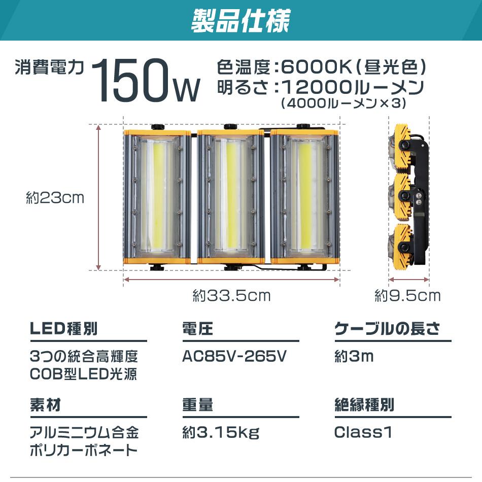 ウェイモール 新型 LED投光器 仕様